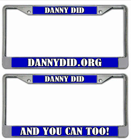 Danny Did License Plate Frame Set